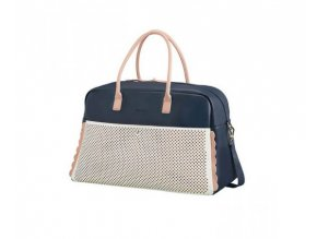WEEKENDER AT BY SAMSONITE65G11005 LUNA POP 43L LUGGAGE ONLY DARK NAVY LIGHT PINK f7502cc712054c58b03fa20e1f4961bc
