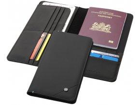 Cestovní náprsní taška Odyssey s RFID, černá sytá