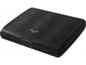 Tru Virtu hliníková peněženka s kůží Papers & Cards Lizzard - černá hadí kůže