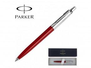 Parker Kuličkové pero Jotter Parker, Barva Červená 10647702  + Obal na pero Business Care
