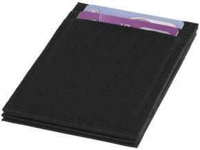 Adventurer RFID vyklápěcí peněženka, černá sytá