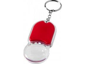 Svítilna a lupa na klíče Zoomy, červená