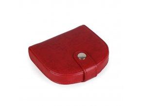 Kožená peněženka na mince 5929315 - červená