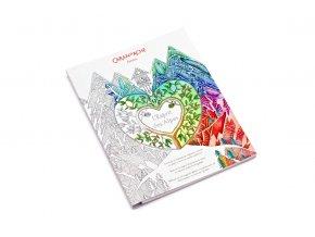 Dárková sada CARAN D'ACHE - Omalovánky  L'ESPRIT DES ALPES a pastelky Prismalo 30 barev