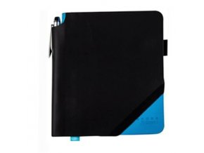 Cross linkovaný zápisník Jot Zone Medium Black/Bright Blue + kuličkové pero