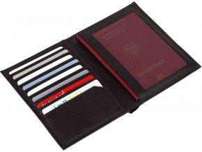 Kožený obal na pas a platební karty