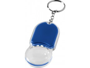 Svítilna a lupa na klíče Zoomy, modrá / transparent
