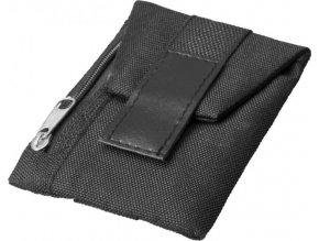 Malá sportovní peněženka k připevnění na obuv, černá sytá