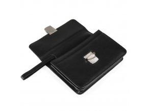 Pánská kožená etue Golf 92579, černá