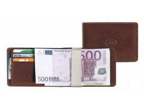 Kožená dolarovka Tony Perotti 2526, tm. hnědá
