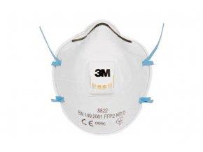 8822, 3M™ Filtrační polomaska (FFP2 NR D) s výdechovým ventilkem 10ks