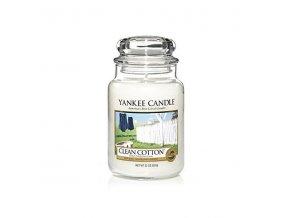 Yankee Candle Svíčka ve skleněné dóze Clean Cotton 623 g