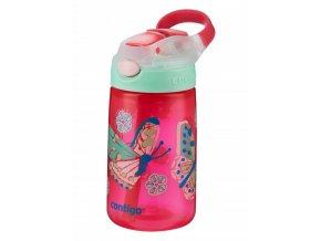 Dětská lahev Contigo Autospout HL James 420 růžová s motýlky