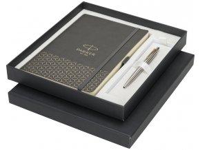 Dárková kazeta Parker obsahující zápisník velikosti A5 a kuličkové pero I.M. Black CT