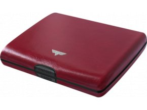 Tru Virtu hliníková peněženka s kůží Papers & Cards Ray Nappa - červená