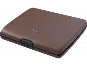 Tru Virtu hliníková peněženka s kůží Papers & Cards Ray Nappa - taupe