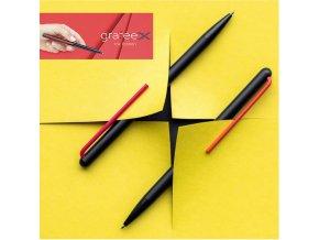 pininfarina segno grafeex ink edition penna a sfera in alluminio clip gialla 4