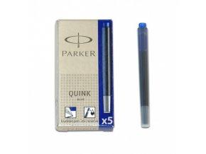 inkoustove bombicky parker modre 5 ks original
