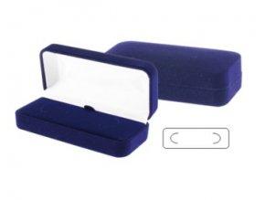 Krabička na sponu na kravatu, modrá