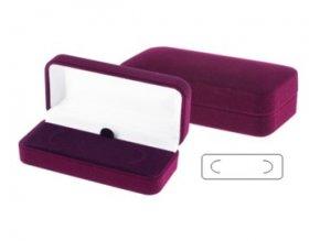 Krabička na sponu na kravatu, bordó
