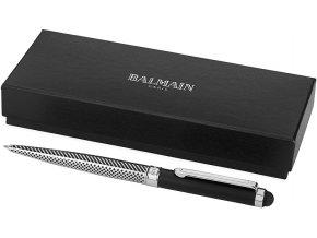 kuličkové pero BALMAIN - černo stříbrné se stylusem