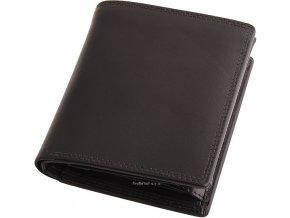 Pánská černá kožená peněženka - na výšku