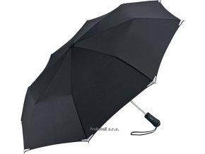 Automatický deštník s LED svítilnou - černý