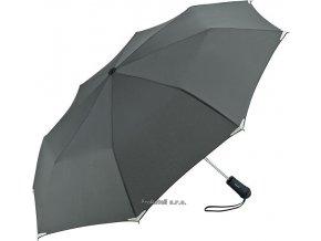 Automatický deštník s LED svítilnou - šedý