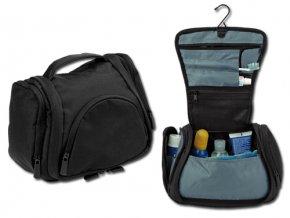 BUCK polyesterová kosmetická taška, 600D, černá