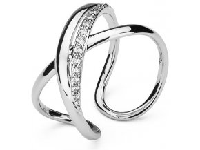 Otevřený prsten se zirkony Ribbon BBN31