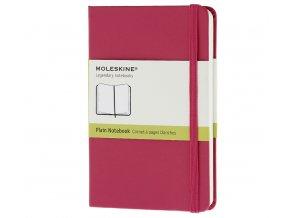 Zápisník Moleskine, růžový čistý (XS), tvrdá vazba