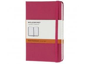 Zápisník Moleskine, růžový linkovaný (XS), tvrdá vazba