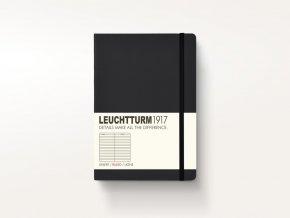 Zápisník Leuchtturm1917 Black Pocket čtverečkovaný