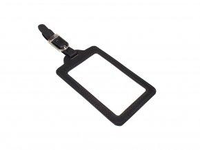 Kožená visačka na kufr Nivasaža N162-MTH-B černá