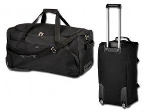 SIMEON polyesterová cestovní taška na kolečkách, 600D, SANTINI, černá