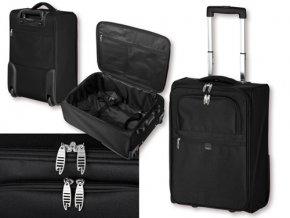 THORVALD polyesterový kufr na kolečkách, 600D, SANTINI, černá