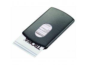 troika slide business card case black 714