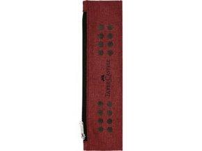 Textilní penál na zip Faber-Castell Grip Red na zápisník