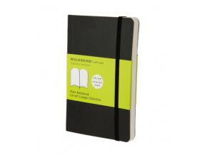 moleskine note book plain black soft cover pocket 9788883707148