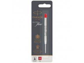 parker quinkflow refill m red ballpoint pen blister