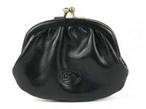 Kožená malá peněženka rámová Tony Perotti 1133, černá