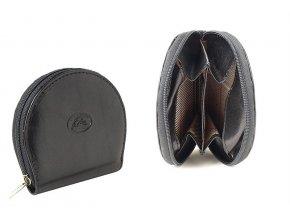 Kožená peněženka na mince Tony Perotti 1123M, černá