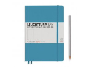 notebook medium a5 hardcover dotted nordic blue