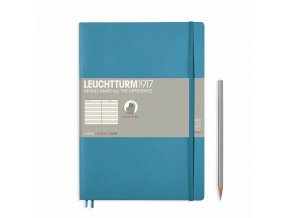 notebook composition b5 ruled softcover 121 numbered pages nordic blue