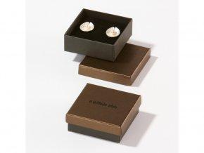 Dárková krabička bronzová/černá 1273