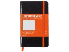 Zápisník Leuchtturm 1917 Whitelines Pocket, tečkovaný