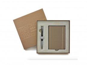 Dárková krabička PARKER s hnědým zápisníkem