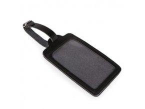 Kožená visačka na kufr 2913010 - černá
