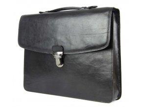Kožená pánská aktovka na spisy Tony Perotti 8091L, černá