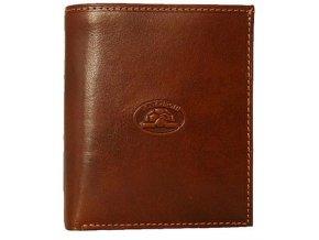Pánská kožená peněženka uzavíratelná patentem Tony Perotti 1165 - tm.hnědá